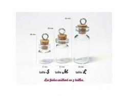 1 fiole en verre 2,8 cm