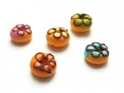 1 donut rond miniature - orange
