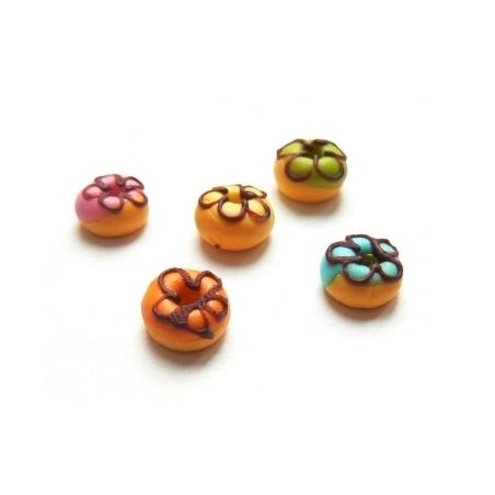 1 donut rond miniature - orange  - 2