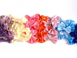 Beige bow - 3 cm