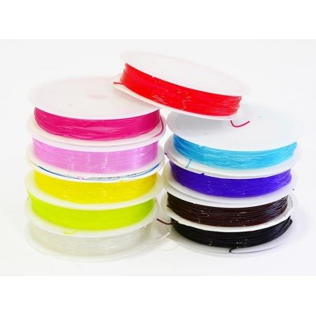 Acheter 5 m de fil élastique 0,8 mm - rouge - 2,49€ en ligne sur La Petite Epicerie - Loisirs créatifs