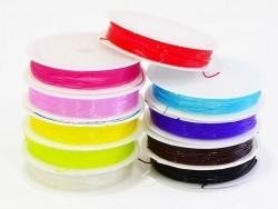 5 m Gummifaden - 0,8 mm - schokoladenfarben