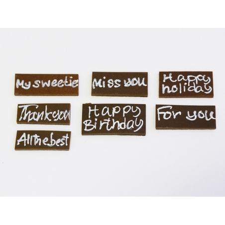 """Petite plaque pour gateau miniature """"Happy Birthday""""  - 2"""