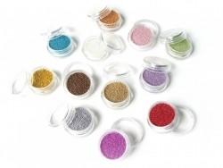 Metallic khaki-coloured microbeads