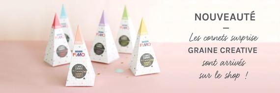 Cônes surprise créatif avec de la pâte Fimo